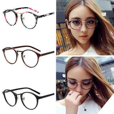 Retro Vintage Round Eyewear Computer Metal Optical Glasses Frames Spectacles