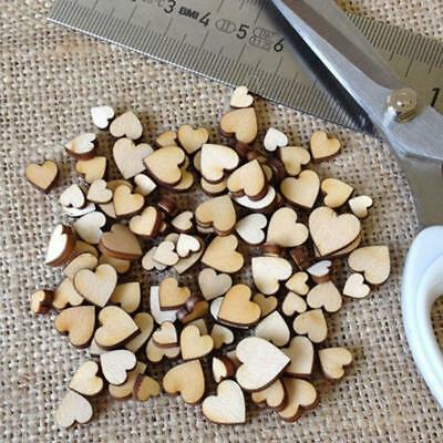 Mini Wooden Small Mix Rustic Love Heart Wedding Table Scatter Decorations 200pcs