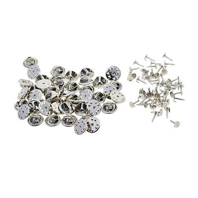 50 Sets Tie Tacks Butterfly Pinch Back Pins Clutch Back Lapel Scatter Pins