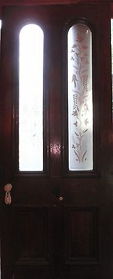 Victorian stained glass  door with beautiful etched glass panels