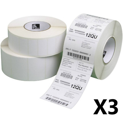 3 x 500 Compatible Zebra 102 x 152mm Thermal Print Shipping Labels For TLP2844-Z