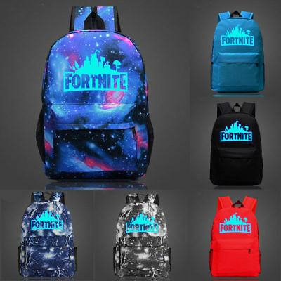 Fortnite Battle Royale Backpack Rucksack School Bag GLOW IN DARK Boys Girls