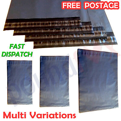 Grey Strong Plastic MAILING BAGS Postal PACK n MAIL Bags MULTI SIZE and Quantity