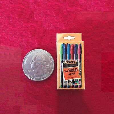 "1:6 scale handmade miniature for 11""-12"" size dolls - Ink pens box"