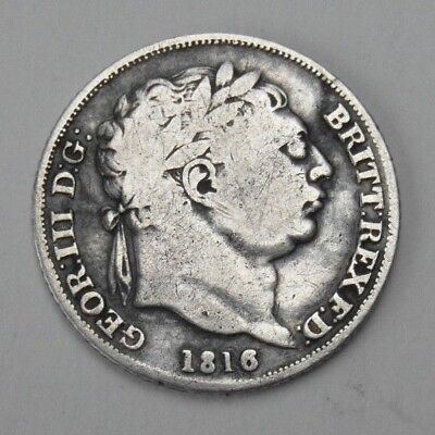 Collectable 1816 King George III Silver Sixpence - Crown Shield In Garter