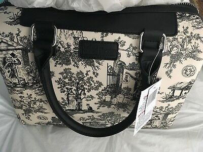 Disney Parks Haunted Mansion Purse w/ Graveyard Characters & Ghosts Print