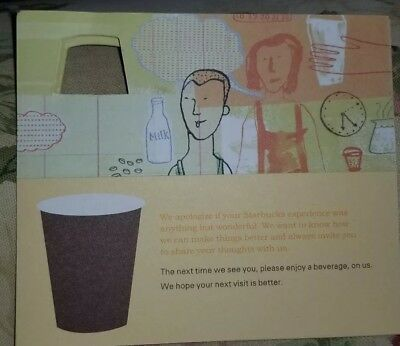 2 x starbucks coffee recovery gift card certificate free drink