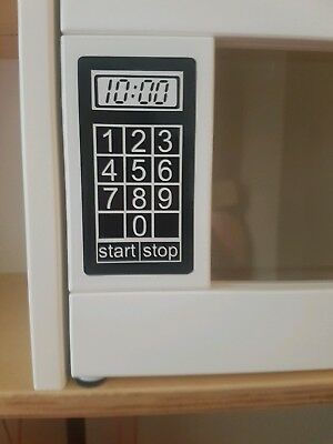Toy play kitchen MICROWAVE vinyl sticker, suit ikea duktig kitchen