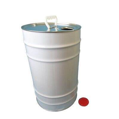 25 L Ltr Litre Tin Tinplate Drum Barrel Container Plain with Easy Pour Berg Cap