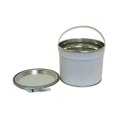 3 L Ltr Litre Metal Tinplate White Bucket UN Approved Storage Paint Solvents DIY