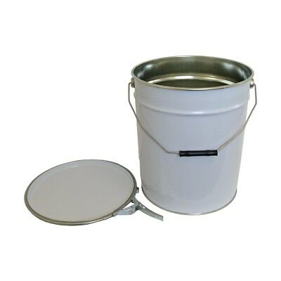 20 L Ltr Litre Metal Tinplate White Bucket for Solvent Based Products Oil Paint