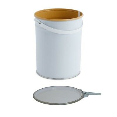 5 L Ltr Litre Metal Tinplate Bucket Pail with Lacquered Interior for Water Based