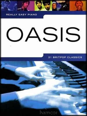 Really Easy Piano Oasis Sheet Music Book Songbook