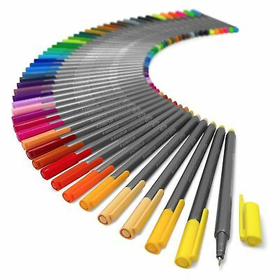 Staedtler Brilliant Colours Triplus Fineliner Pens - Tin Included - Pack Of 50
