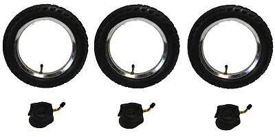 3 x Phil & Teds CLASSIC Off Road PUNCTURE PROTECTED Pram Tyres & Tubes Set