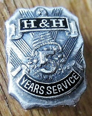 HORN & HARDART CAFETERIA Automat Restaurant 5 Year Employee Sterling Service Pin