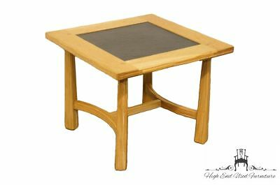 """BRANDT Ranch Oak Western Style 21"""" Square End / Accent Table 3034"""