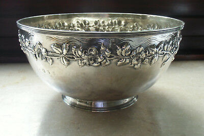 Große Schale Sterlingsilber Arts and Crafts Schottland Glasgow 1903 Jas. Ross