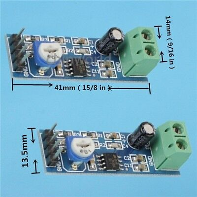 10PCS LM386 AUDIO Amplifier Module Board 200 times Gain 5V-12V 10K for  Arduino