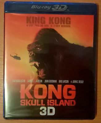 KING KONG Skull Island Blu-ray 3D neuf scellé / sealed