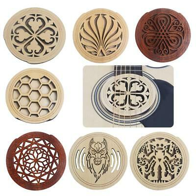 Guitar Mahogany Soundhole Sound Hole Cover Block for Guitar Parts Accessories
