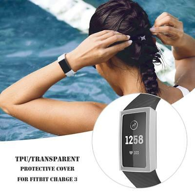 Ultra-thinTPU Screen Protective Clear Case Cover Replacement for Fitbit Charge 3