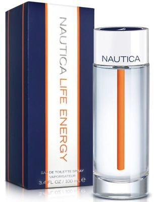 Nautica Life Energy 3.3 / 3.4 Oz EDT Spray New In Box Sealed Cologne for Men