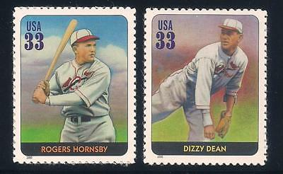 Rogers Hornsby & Dizzy Dean - St Louis Cardinals - U.s. Stamps - Mint Condition