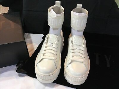 new products 4a945 1ab61 PUMA X FENTY by Rihanna Ankle Strap Womens Sneakers Shoes White Sz 7 New w/  Box