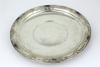 Wild Rose Pattern by International Sterling Silver Sandwich Plate