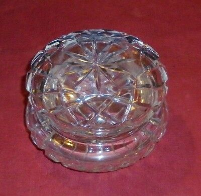 1950s LARGE CUT CRYSTAL TRINKET BOX EXCELLENT CONDITION