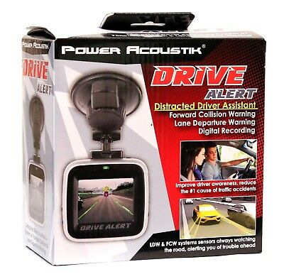 Power Acoustik Drive Alert Distracted Driver Assistant w/ Collision Warning NEW