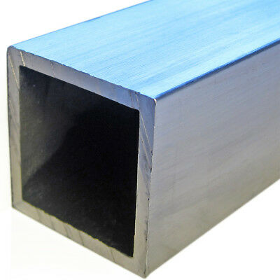"1"" x 0.125"" 6063 T52 Aluminum Square Tube 12"" Length"