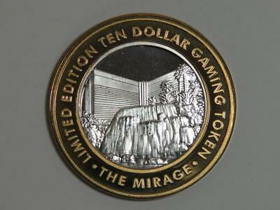 Mirage Las Vegas Nevada Casino Token - $10 Silver Strike