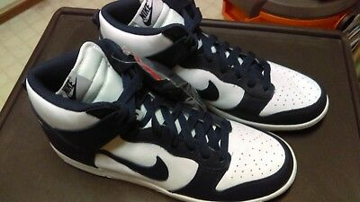 new photos ca4ba f85db Nike Dunk High Retro Qs Villanova Midnight Navy Blue White Size-12 +Gel  Insoles