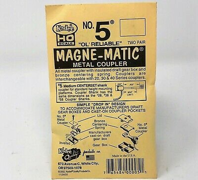 HO Scale Kadee #5 Magne-Matic Universal Knuckle Coupler 2-Pair/pk