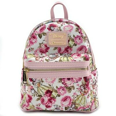 Loungefly ~ Disney ~ Beauty and the Beast ~ Belle Character Floral Mini Backpack