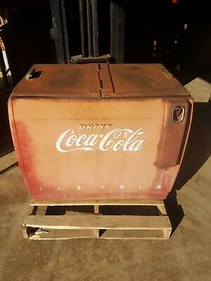 WESTINGHOUSE double sided Coca-Cola stand up dry cooler machine (ORIGINAL)