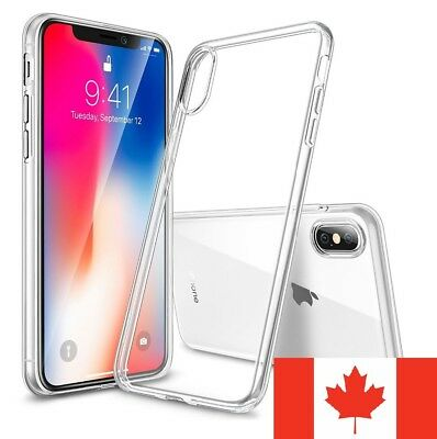 For iPhone X & iPhone XS Case - Clear Soft Crystal TPU Transparent Back Cover