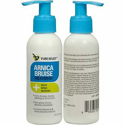 Pure Relief Arnica Bruise Treatment Cream for Bruising & Swelling - New 4oz