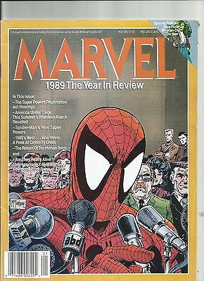 MARVEL 1989 The Year in Review, Spiderman Comic Magazine