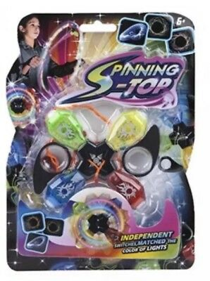 LIGHT UP QUAD SONIC CYCLONE SPINNER LED Toy Gift Party Bag Filler PM543133 UK