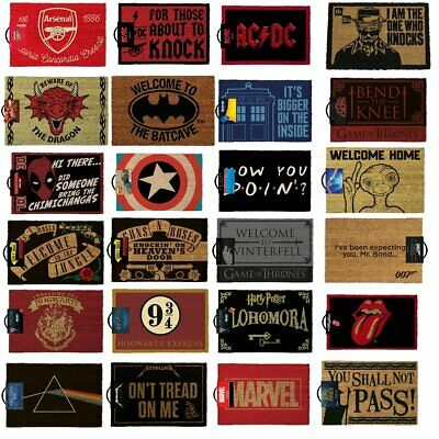 Large Selection Licensed Doormats Made From 100% Coir With A Rubber Back