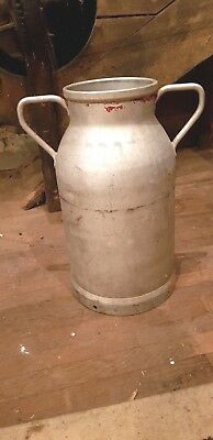 Original Vintage Aluminium French Milk Churn   without lid ideal garden planter