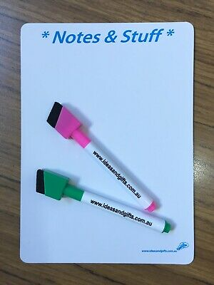 A5 Small Notes Fridge Magnet Whiteboard Family Office Memo Message Reminder 2pen