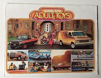 Dodge 1979 Adult Toys Fold-Out Sales Brochure Original Vintage