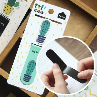 Cactus Magnetic Bookmarks Paper Clip Fridge Stickers School Office Supplies New