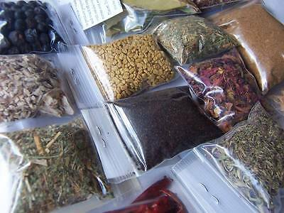 WICCA PAGAN WITCH SUPPLIES 25 Incense Herbs - Rose Oak Sage Mugwort Nettle Clove
