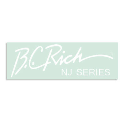 WHITE BC Rich® NJ® Series Beast® Waterslide Headstock Decal