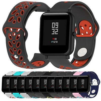 Double Colour Soft Silicon Watch Band Wirstband For Huami Amazfit Bip Watch